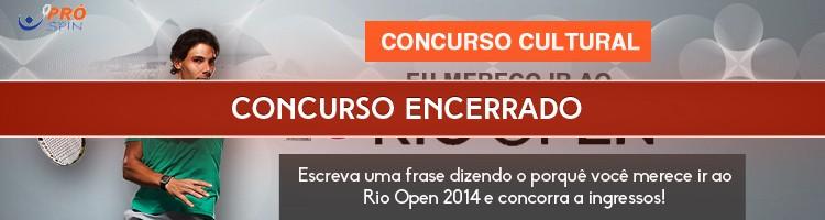 """Concurso Cultural """"Rio Open, Eu Vou!"""""""